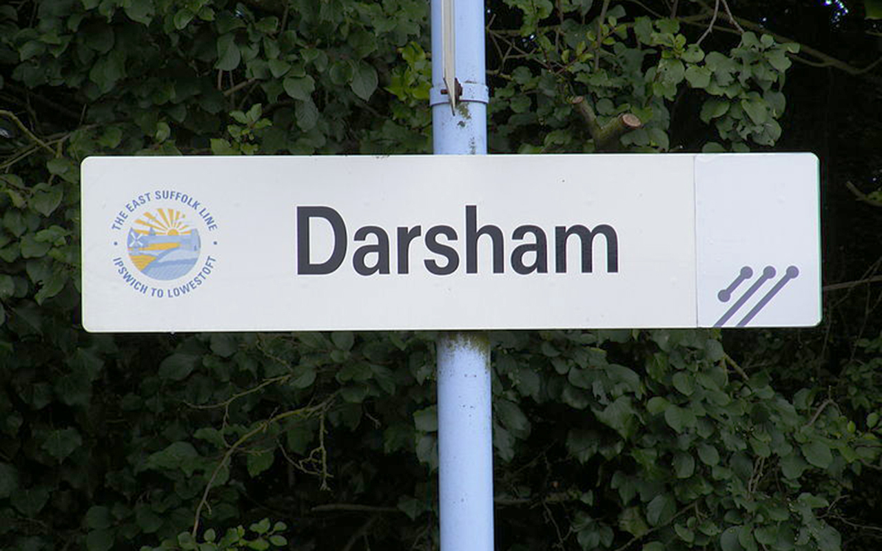Darsham Station Sign