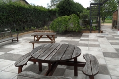 Patio and outdoor eating space