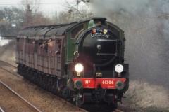 Steam train passing through Darsham